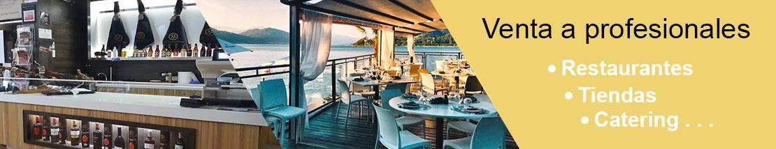 Venta a proesionales: restaurantes, tiendas especializadas, catering...